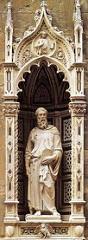 St. Mark by Donatello, 15th Cen. Italian Ren - Inside of niche, sculpture, 7'9