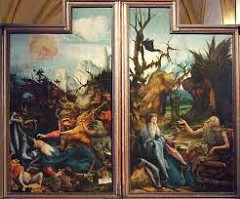 Temptation of St Anthony by Grunewald, 16th Cen N Ren - temptations going after him
