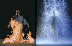 The Crossing Bill Viola. 1996 C.E. Video/sound installation To evoke the viewer's senses and create a feeling of spirituality. His work focuses and sensory perception and tries to take viewers on a trip to the spiritual realm. The videos are able to accomplish this through slow motion, contrasts in scale, shifts in focus, mirrored reflections, etc.