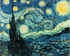 The Starry Night Vincent van Gogh. 1889. Oil on canvas It is this rich mixture of invention, remembrance, and observation combined with Van Gogh's use of simplified forms, thick impasto, and boldly contrasting colors that has made the work so compelling to subsequent generations of viewers as well as to other artists. Inspiring and encouraging others is precisely what Van Gogh sought to achieve with his night scenes. The painting became a foundational image for Expressionism as well as perhaps the most famous painting in Van Gogh's oeuvre.