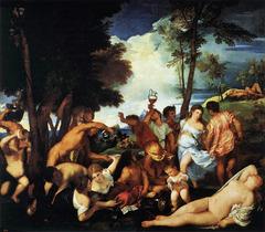 Titian, Bacchanal; 1518
