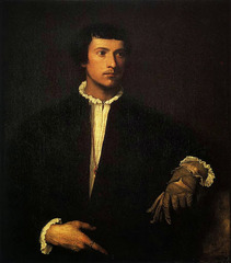 Titian, Man with a Glove; 1520