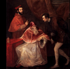 Titian Pope Paul 3 and his Grandsons  1546