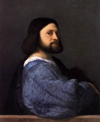 Titian Portrait of a Man with a Blue Sleeve 1520