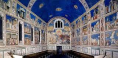 Title/Name: Frescos in the Scrovegni (Arena) Chapel Artist: Giotto di Bondone Date: 1305 - 1306 Location: Padua, Italy Significance: One of the most impressive and complete pictorial cycles ever rendered.