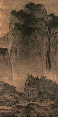 Travelers among Mountains and Streams. Fan Kuan. c. 1000 CE Ink and colors on silk