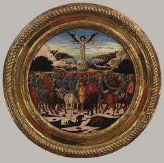 Triumph of Fame, Lo Scheggia, 1449, desco da parto celebrating the birth of Lorenzo de'Medici, tempera on panel