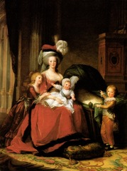 Vigee-Lebrun, Portrait of Queen Marie Antoinette and her three children
