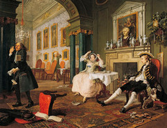 William Hogarth did a satire of ____________ in his series of paintings marriage à la mode