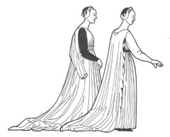 Women: 1450-1500 Gowns worn either as a single layer or two layers
