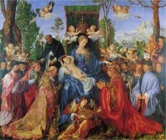 Albrecht Durer, Feast of the Rose Garlands, c. 1506 (Painting)