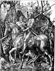 Albrecht Durer, Knight, Death and the Devil, 1513 (Engraving)