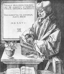Albrecht Dürer. Portrait of Erasmus. Engraving.</p> <p> 1526.