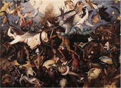 Bruegel. The Fall of the Rebel Angels.</p> <p> Oil on panel. 1562.
