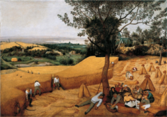 Bruegel. The Wheat Harvest.</p> <p> Oil on panel. 1565.