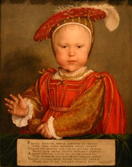 Hans Holbein the Younger.</p> <p> Portrait of Edward VI as a Child. Oil on Panel. 1539.