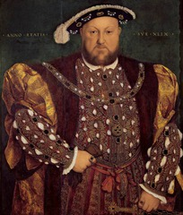 Hans Holbein the Younger. Portrait of Henry VIII. Oil on Panel.</p> <p> 1539-40.