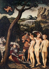 Lucas Cranach the Elder.</p> <p> The Judgment of Paris. Oil on Panel. 1530.