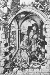 Martin Schongauer. Nativity. Engraving. 1475.</p> <p>