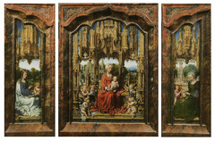 Patinir. The Penitent Saint Jerome Triptych. Oil on panel.</p> <p> 1520.