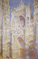Rouen Cathedral in Sunlight Artist: Monet Themes: -relate material to immaterial (scientific experiment) -no engagement with spirituality even though cathedral is painted -