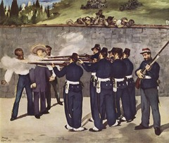 The Execution of Emperor Maximilian Artist: Manet Themes: -Media: information/news/media directly able to identify players -Maximilian executed by mexican guerrillas -Allows for spectatorship