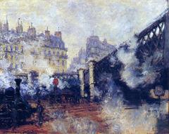 """The Pont de Rome - Gare St.</p> <p> Lazare<br /> Artist: Monet</p> <p>Themes:""""></p></div> <div class="""
