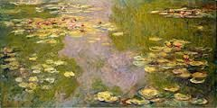 Water Lilies Artist: Monet Themes: -forms and styles = abstraction -negates impressionism: not a specific time; rather a series of times; not done quickly/instantaneously; done in the studio