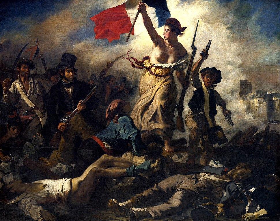Eugène Delacroix, Liberty Leading the People, oil on canvas, 2.6 x 3.25m, 1830 (Musée du Louvre, Paris)